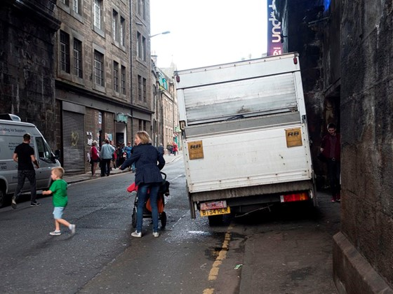 Pavement parking in Edinburgh