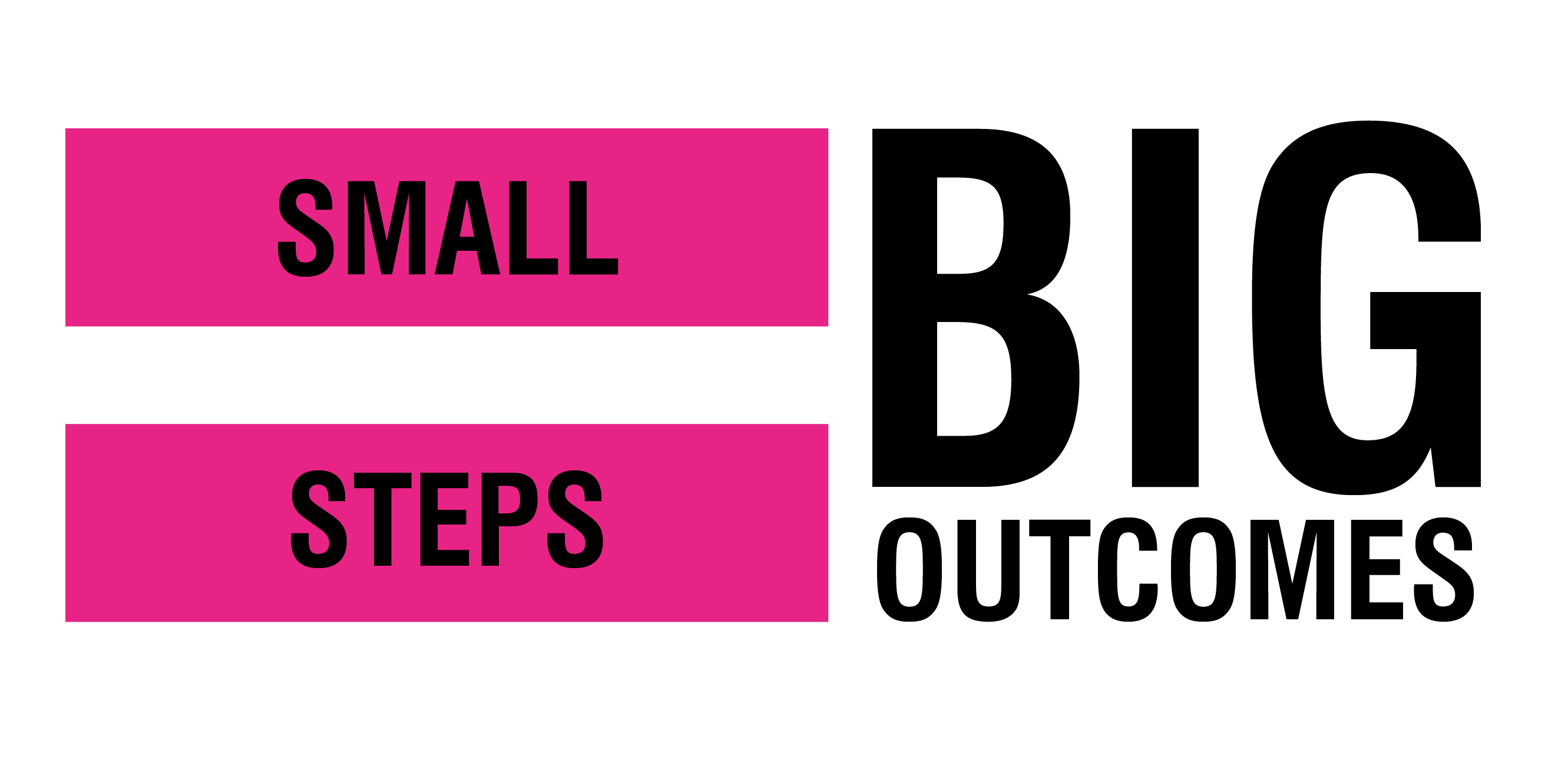small steps mean big outcomes