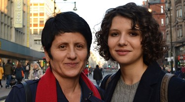 Andrea Nistoresu and her mum on Oxford Street