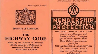 Original 1930 highway code