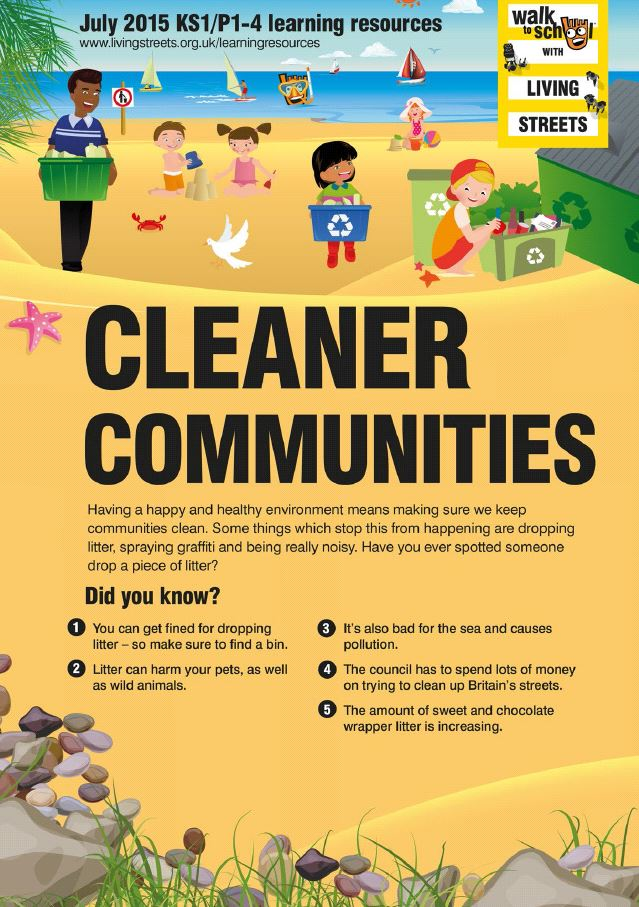 Learning resources Cleaner Communities KS1