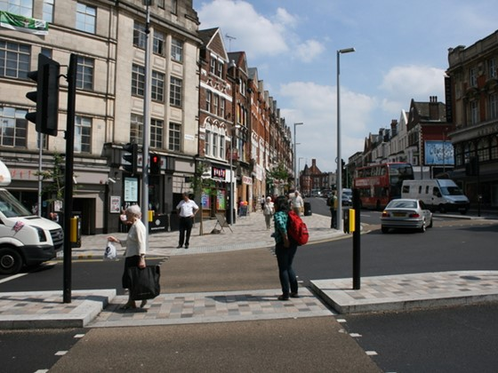 A newly opened pedestrian crossing in Wandsworth