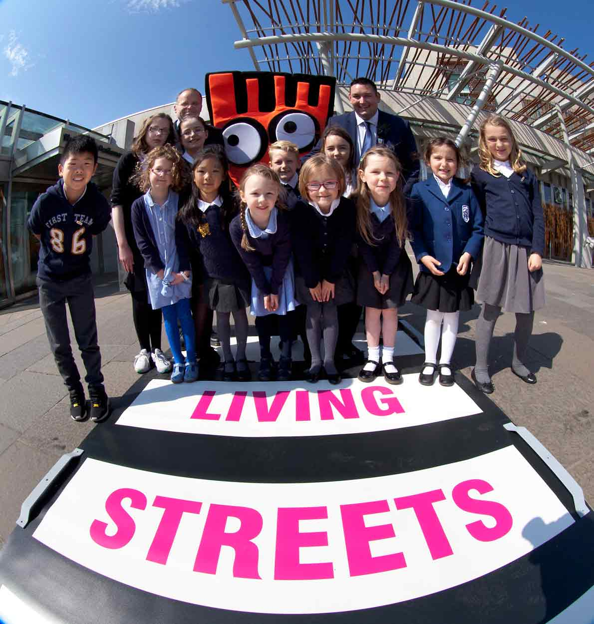 Happy children and the Living Streets zebra crossing