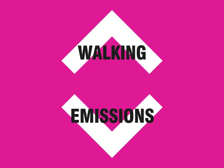 When walking increase, emissions decrease