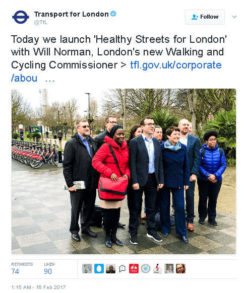 Tweet by Transport for London