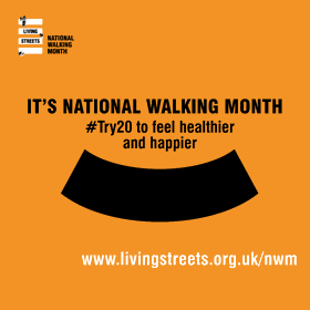 It's National Walking Month shareable