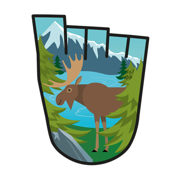 September 2017 WOW badge - The Canadian Wilderness (pack of 10)