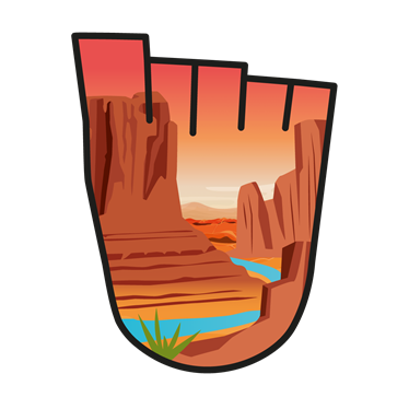 December 2017 WOW badge - Grand Canyon (pack of 10)