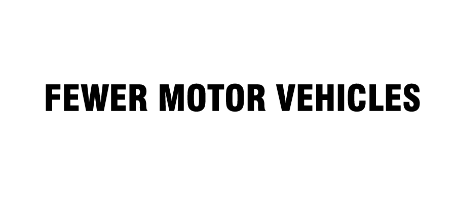 Fewer motor vehicles