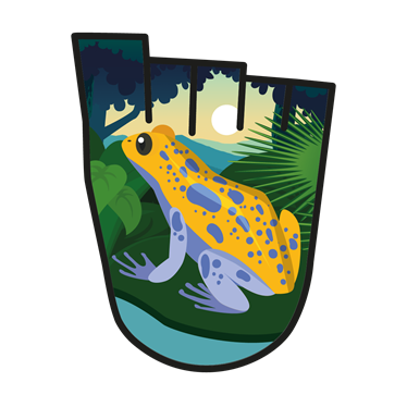 February 2018 WOW badge - Amphibians of Central America (pack of 10)
