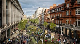 Artist's impression of a pedestrianised Oxford Street