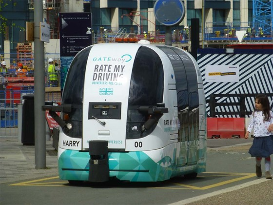 Driverless car in Greenwich