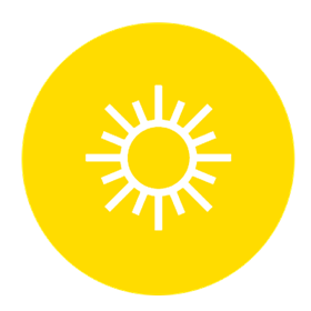 Graphic of the sun