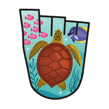 April 2018 WOW badge - The Galapagos islands (pack of 10)