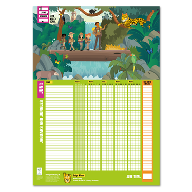 June 2018 WOW Wallchart – Jaguars and jungles