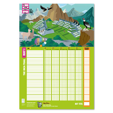 May 2018 WOW Wallchart - The Inca Trail