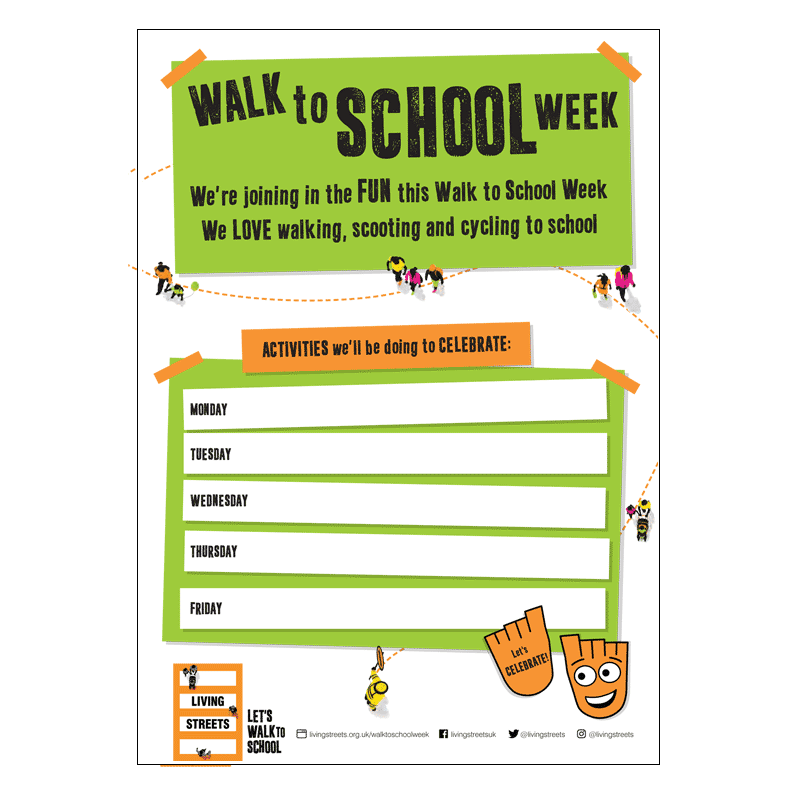 Walk to School Week Activity Poster