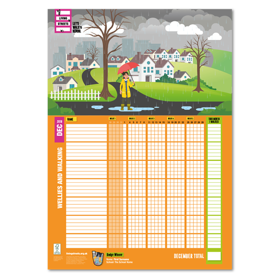 December 2018 WOW wallchart - Puddles | Living Streets