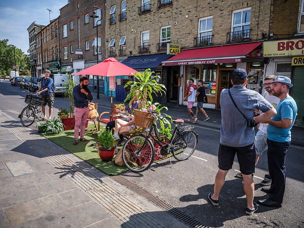 parklet in hackney