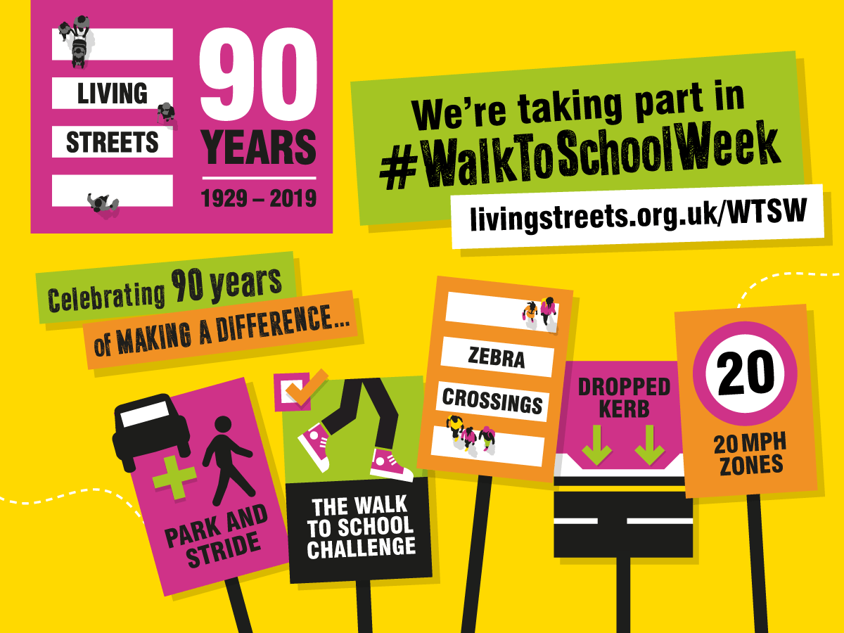 Walk to School Week - Living Streets Graphic